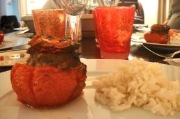 Stuffed tomato and rice