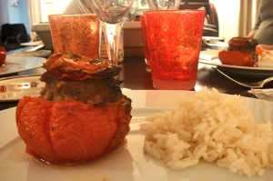 Stuffed tomato and rice