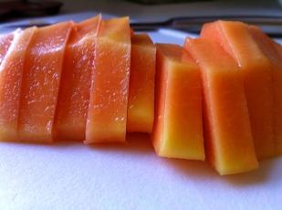 Papaya sliced