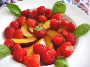 Simple Summer Fruit Salad + basil
