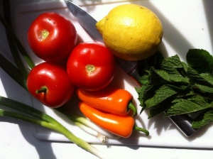 Ingredients tabbouleh